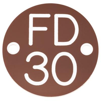 FD30 Door Sign Drilled - 50mm - Brown