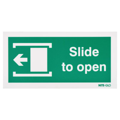 Nite Glo Slide to Open Left - 100 x 200mm