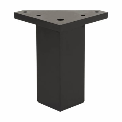 ABS Plastic Furniture Leg - Square - 40 x 40 x 80mm - Black