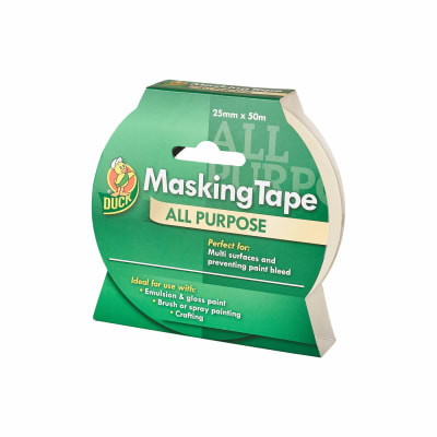 Duck Tape All Purpose Masking Tape - 25mm x 50m - Beige