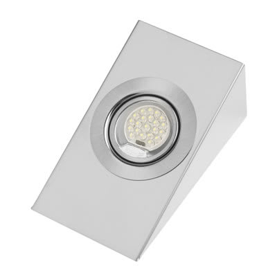 Leyton LED Wedge Cabinet Downlight With Driver - 140mm x 80mm - 3 x 1.5W