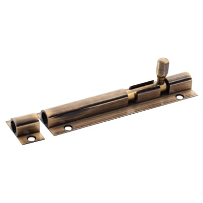 Aglio Straight Barrel Bolt - 100 x 25mm - Antique Brass