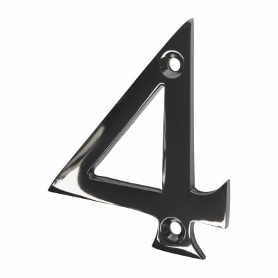 Screw Fixed Number - 4 - Black Nickel