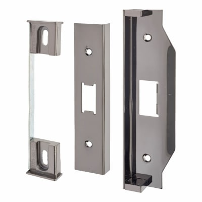 A-Spec 12mm Rebate Kit to suit Heavy Duty Flat Latch - Black