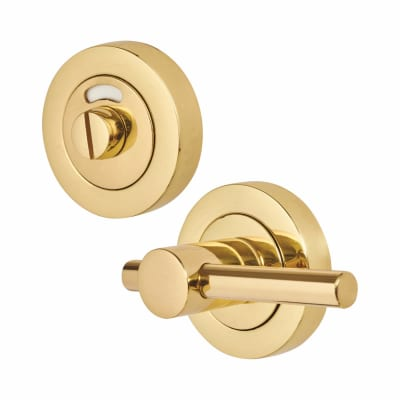 Bar Handle Turn & Release - Polished Brass