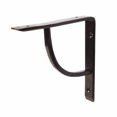 Olde Forge Plain Steel Shelf Bracket - 152 x 152mm - Black