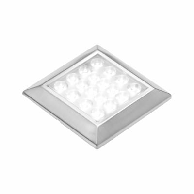 Leyton LED Square Cabinet Downlight With Driver - 65 x 65mm - 3 x 1.8W