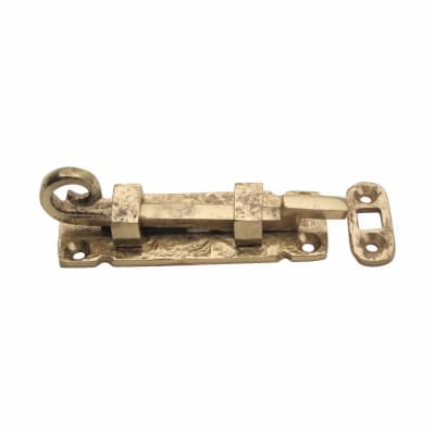 Curly Tail Cranked Bolt - 85mm - Blacksmith Brass