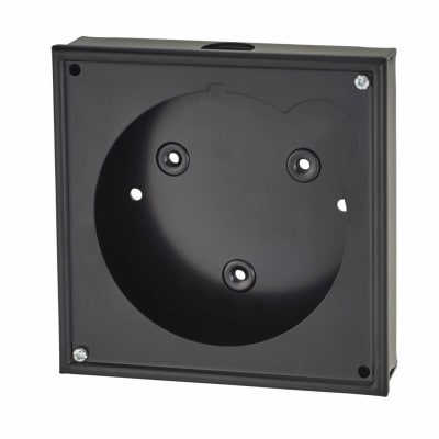 Sangamo Timed Fused Spur Mounting Box - Black