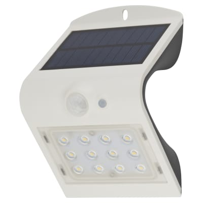 Luceco Solar Guardian PIR Wall Light - White