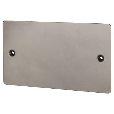 BG 2 Gang Flatplate Blank Plate - Black Nickel