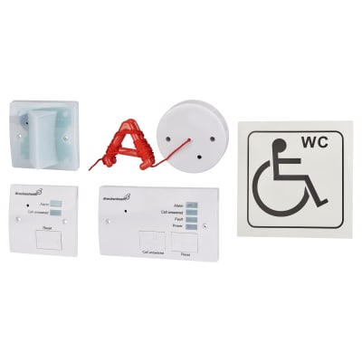 Disabled Toilet Alarm - White