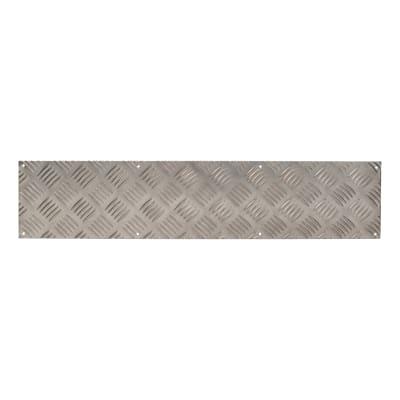 Kick Plate / Finger Plate - Made to Measure - 1.5mm - Aluminium 5 Bar Tread - Mill Finish