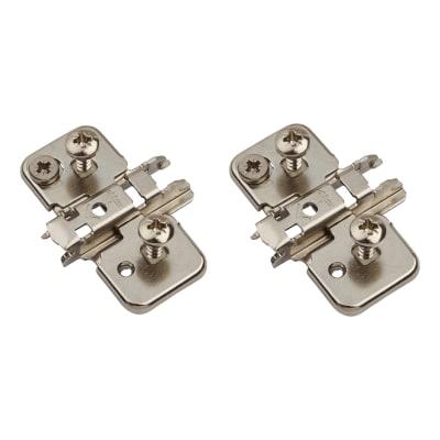 Blum CLIP Cruciform Mounting Plate - Expando - 0mm Spacing - Nickel Plated - Pair