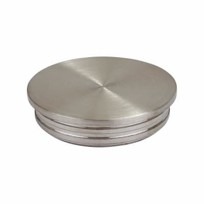 Balustrade Circular Flat End Cap - 304 Stainless Steel - Brushed Satin