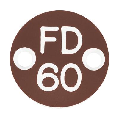 FD60 Door Sign Drilled - 25mm - Brown