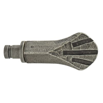 Olde Forge Shell Curtain Finials - Pewter