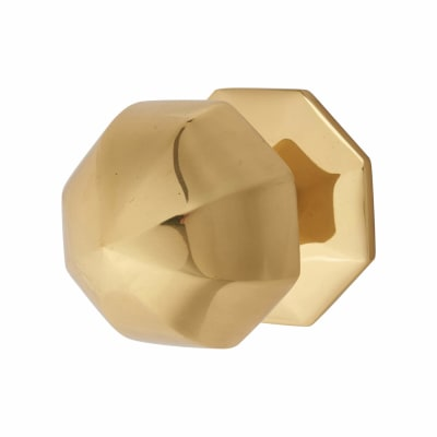 Pinnacle Period Centre Door Knob - 63mm - Polished Brass