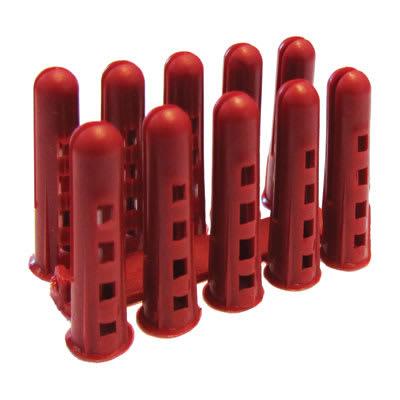 Rawlplug HDPE Plug - Red - Pack 1000