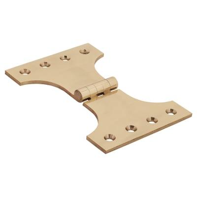 Jedo Heavy Parliament Hinge - 102 x 102 x 152mm - Polished Brass - Pair