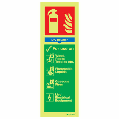 NITE-GLO Dry Powder Extinguisher - 300 x 100mm