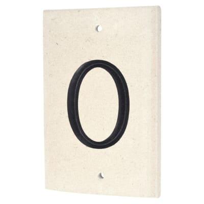Limestone Numeral - 0