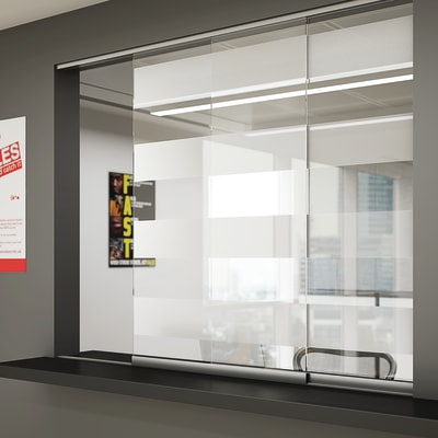 Glatt II Sliding Door Kit - 1250mm - 6mm Glass Doors
