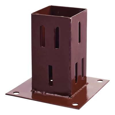 Taurus Bolt Down Fence Post Shoe - Quick Fit - 75mm - Oxide Red