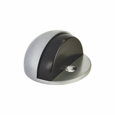 Oval Floor Door Stop - 45mm - Satin Chrome
