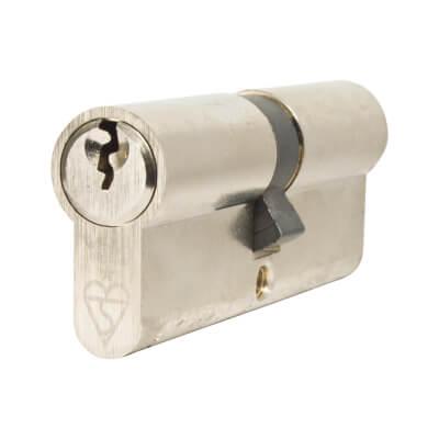 Yale® 1 Star Kitemarked Euro Double Cylinder - Keyed Alike - 40 + 40mm - Nickel Plated