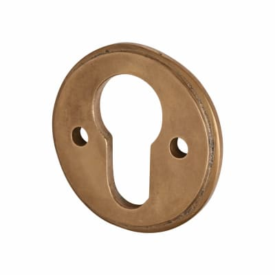 Louis Fraser Escutcheon - Euro - Light Bronze