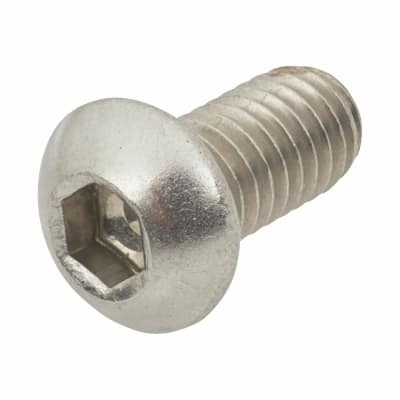 TIMco Button Head Socket Screws - M6 x 20mm - A2 Stainless Steel - Pack 10