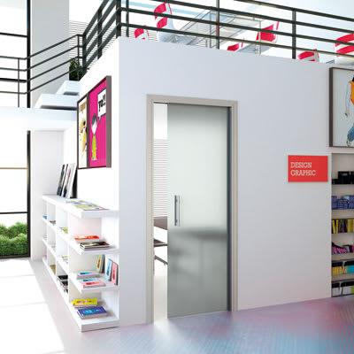Eclisse 10mm Glass Single Pocket Door Kit - 100mm Wall - 762 x 1981mm Door Size - Right Hand