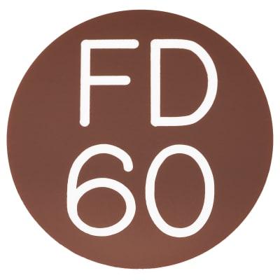 FD60 Door Sign Self Adhesive - 50mm - Brown