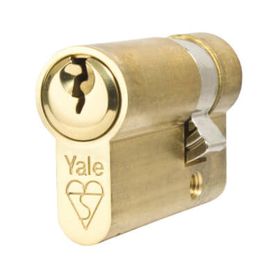 Yale® Kitemarked Single Cylinder - 35 + 10mm - Polished Brass