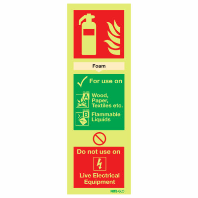 NITE-GLO Foam Extinguisher - 300 x 100mm