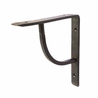 Olde Forge Plain Steel Shelf Bracket - 152 x 152mm - Black Beeswax