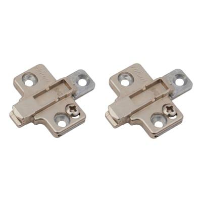 Blum CLIP Cruciform Mounting Plate - Screw On - 0mm Spacing -  Zinc Diecast - Pair