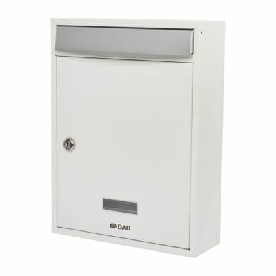 DAD Bologne Mailbox - 340 x 260 x 85mm - White