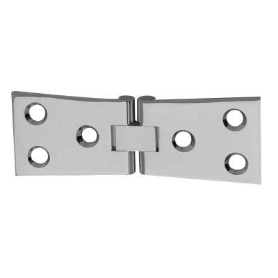 Counter Flap Hinge - 100 x 40 x 3mm - Polished Chrome - Pair