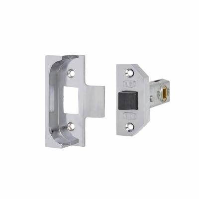 UNION® 2650 Rebated Tubular Latch - 80mm Case - 57mm Backset - Bright Silver