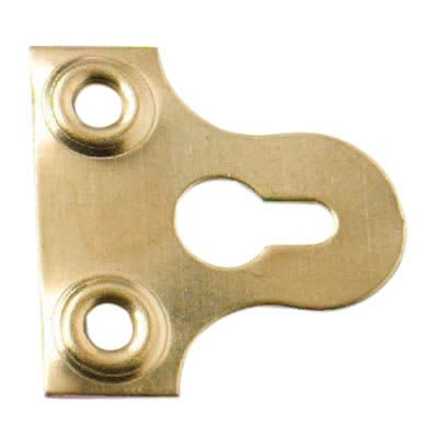 Slotted Glass Plate - 19mm - Brass Plated - Pack 10