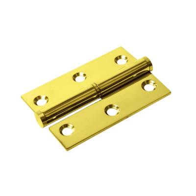 Lift-Off Hinge - 75 x 53 x 2mm - Left Hand - PVD Brass - Pair