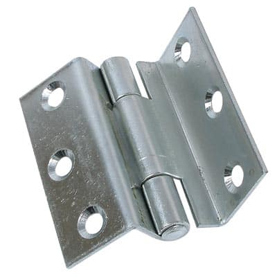 Heavy Pattern Storm Proof Hinge - 100mm - Bright Zinc Plated - Pair