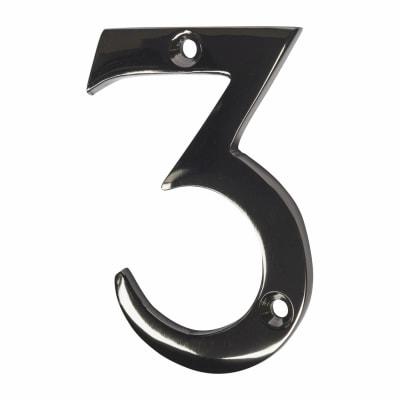 Screw Fixed Number - 3 - Black Nickel