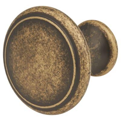 Thorpe Cabinet Knob - 30mm Diameter - Antique Brass