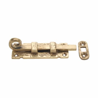 Curly Tail Straight Bolt - 85mm - Blacksmith Brass