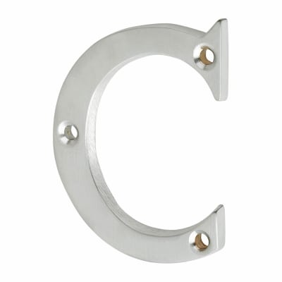 53mm Screw Fixed Letter - C - Satin Chrome
