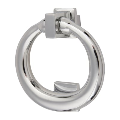 Morello Ring Door Knocker - 115 x 100mm - Polished Chrome