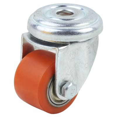 Coldene Super Low Level and High Load Castor - Bolt Hole - 120kg Maximum Weight - Red
